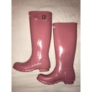 Hunter Tall Pink Rain Boots